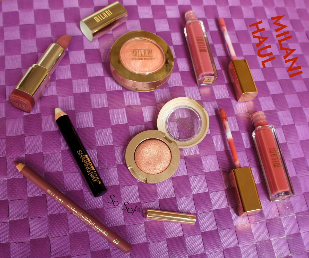 Milani Haul: Amore Matte Lip Creme, Baked Blush, Color Statement Lipstick & Lipliner and more