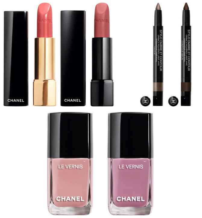 Rouge Allure Lipstick 191, Rouge Allure Velvet Extreme Lipstick 132, Stylo Ombre et Contour 34 & 36, Le Vernis 735 & 739