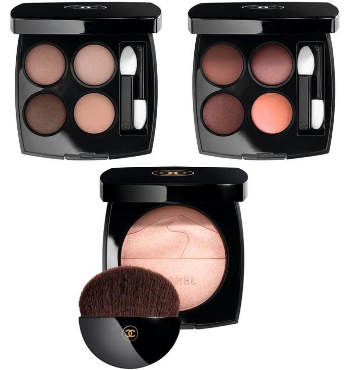 Les 4 Ombres Eyeshadow Palette 352 & 354, Eclat de Desert Highlighter